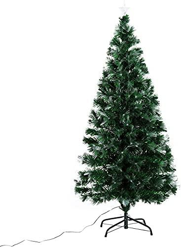HOMCOM Albero di Natale Artificiale 150cm in PVC Fibre...