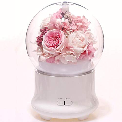Eternal Flower Humidifier Silent Night Light Desk Lamp Aroma Diffuser Adjustable Automatic Power-Off Air Humidifier, Suitable for Study Living Room Bedroom,1