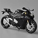 HBSM 1:12 Escala Diecast Modelo De Motocicleta Juguetes para S1000RR Sport Bike Miniatura Coleccionable (Color : Black)