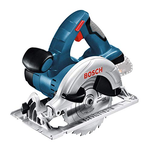 Bosch Professional 060166H000 Scie Circulaire Sans-Fil P GKS 18 V-LI (C ) (18 V, Régime à Vide : 3,900 tr/min, Ø de la Lame de Scie : 165 mm, Capacité de Coupe Maxi dans le Bois (90°) : 51 mm)
