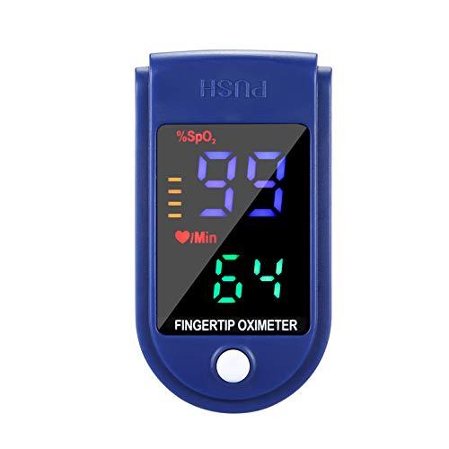 2PCS Digital Fingertip Testing Tool, Fingertip Tool, Home Testing Tools, with OLED Display Blue and Black