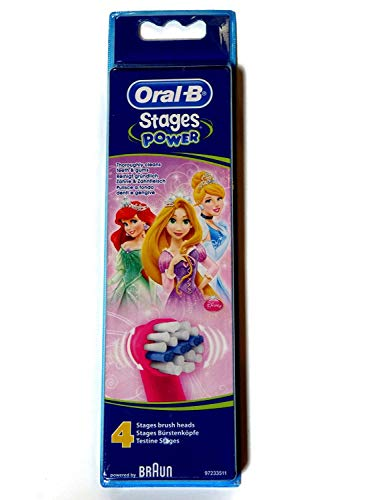 Oral-B Stages Power Princess - Replacement Brush Heads (1 pack = 4 pieces)