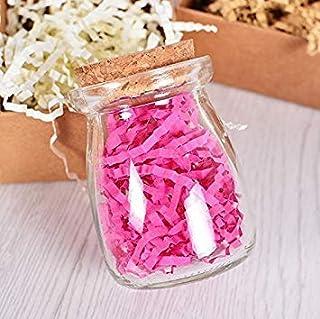JoyGlobal Shredded Paper Grass Color Filler Crinkle Cut Paper Shred Gift Basket Filler. (Pink)