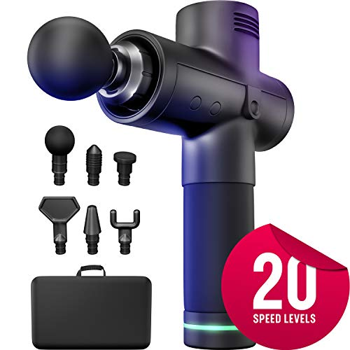 Best Deals! BodyTechnix Muscle Massage Gun for Athletes | Powerful & Quiet 20 Speed Deep Tissue Perc...