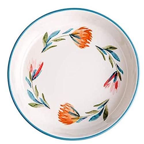 SSYS Platos Redondos de cerámica para ensaladas/Aperitivos para el hogar y la Cocina, Platos de Cena para Frutas, quesos, postres, pastas y más