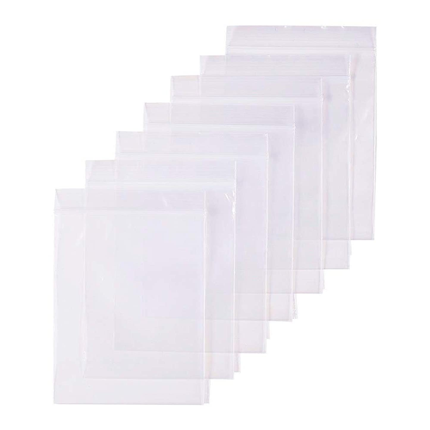 検体更新説得力のある300枚 セット透明 リサイクル可能プラスチック袋チャック付ポリ袋 密封保存袋