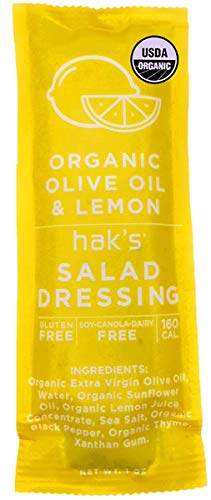 Haks - Organic Salad Dressing - Portable Salad Dressing - 100 Single Serve Packets - Perfectly Portioned, Organic Ingredients, Easy to Take On The Go