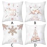 Konxxtt Christmas 4PC Decorative Cushion Cover Elegant...