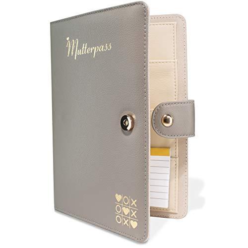TWIVEE - Mutterpasshülle - Organizer mit Magnetverschluss - Mutter-Kind-Pass - Deutscher Mutterpass - inkl. Notizblock und 8 Fächern