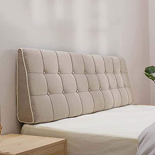 XIAOYAN Almohadas de Lectura Lino Sofá Cama Grande tapizado, cabecera Triangular Cuña Cojín Cojín DUMBED PRESENTACIÓN Posicionamiento Posicionamiento Pillow-N 190x50x15cm