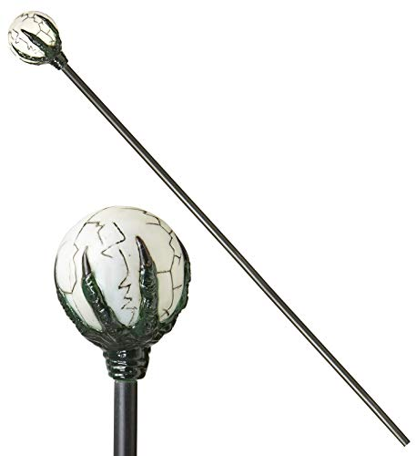 shoperama Fantasy - Bastón con garra y bola blanca (122 cm)
