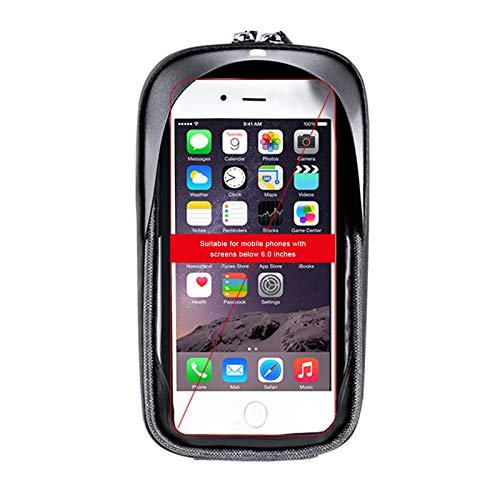 ROSEBEAR Bolsa impermeable para manillar de bicicleta, para pantalla táctil, para smartphones de 6 0 pulgadas