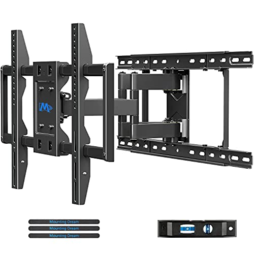 """Mounting Dream TV Wall Mounts TV Bracket for 42-70 Inch TVs, Premium TV Mount, Full Motion TV Wall Mount with Articulating Arms, Max VESA 600x400mm and 100 LBS, Fits 16"""", 18"""", 24"""" Studs MD2296-24K"""