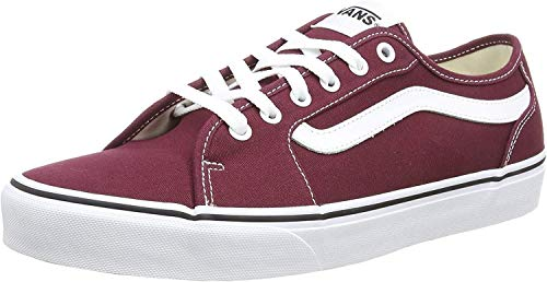 VANS Filmore Decon, Zapatillas Hombre, Rojo Canvas Port Royale/White 8J7, 41 EU
