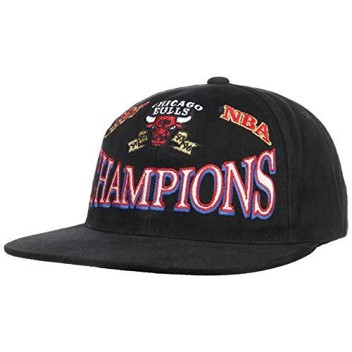 Mitchell & Ness Gorra NBA Champs Bulls& de Beisbol Baseball (Talla única - Negro)