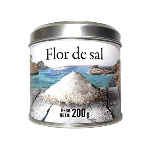 GLOSA MARINA Flor de Sal (Fleur de Sel) feinste Salzflocken - das perfekte Geschenk aus Mallorca Spanien (1x200g)