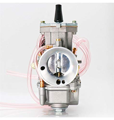 Fait Adolph Filtro de aire universal para PWK 21 24 26 28 30 32 34 2T 4T para carburador Keihin Koso PWK con chorro de potencia para accesorios de cortacésped de 75 cc-250 cc (color: 34 mm)