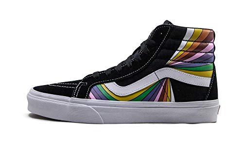Vans Womens Sk8 Hi Reissue High-Top Skateboarding Shoes Black 6.5 Medium (D)