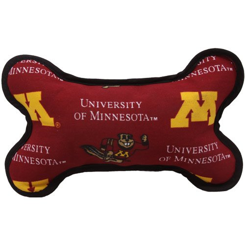 Pup Rally Pet Products Minnesota Golden Gophers Squeeky - Hueso de perro