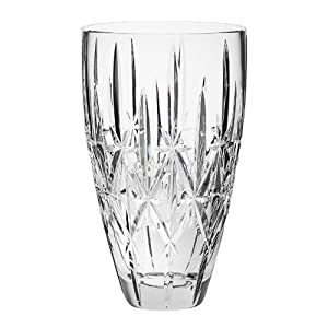 Silk Flower Arrangements Marquis By Waterford Sparkle 9 Vase Crystal, Clear - 156611