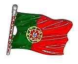 zamonji Portugal Flagge Kühlschrank Kühlschrankmagnet 3D Harz Magnete Länder Fahne Reise Aufkleber Tourist Geschenk Home & Küche Dekoration