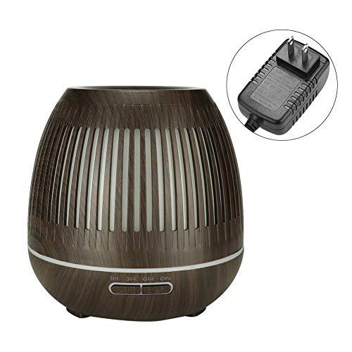 Qkiss 400ml Premium, diffuser en luchtbevochtiger met adapter en Engelse handleiding, meerdere LED-lichtkleuren met automatische uitschakeling, superstil ontwerp(EU)