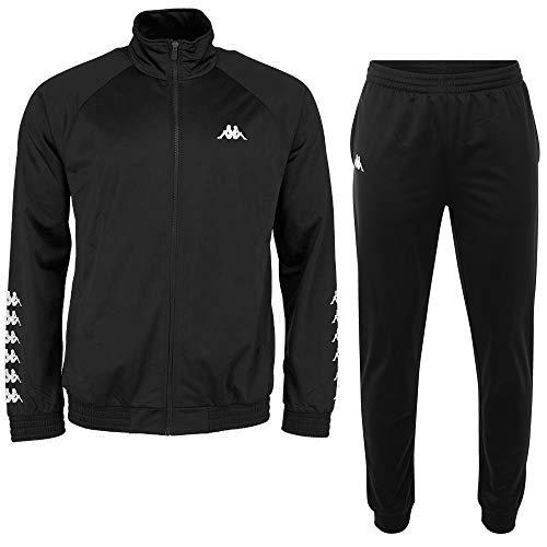 Kappa heren joggingpak Till, klassiek trainingspak bestaande uit jas en broek, sportpak met steekzakken, maat S-XXL