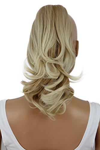 PRETTYSHOP 30cm Postiche Natte Queue De Cheval Extensions De Cheveux Volumineux Ondulé Mélange Blond H136