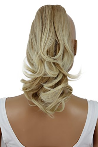 PRETTY SHOP Mixed Blonde Wavy Voluminous Ponytail Hair Piece