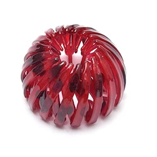 MaylFre Einziehbare Haarschleifen Vogel Nestförmige Haarklammern Haarschmuck rot zum Ankleiden zum Ankleiden