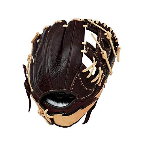 Baseballhandschuh Soft-Durable Baseball-Handschuhe Weiche verdicken Softball Handschuhe Verschleißfeste Baseball-Handschuhe Rechte Hand Wurf for Jugend Erwachsene for Kinder Teens Erwachsene Rechte Ha