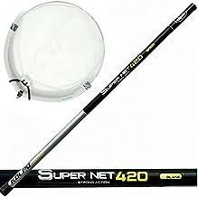 agc Kolpo Super Net schepnet 320 cm compleet met vlotterkop 50 x 45 - diepte 39 cm