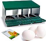 FINCA CASAREJO Ponederos para gallinas + 3 Huevos macizos y Agenda Perpetua. Ponedero de 3 Huecos