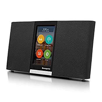 Updated OS Quad Core CPU Sungale 2nd Gen WiFi Internet Radio with 4.3  Easy-Operation Touchscreen Listen to Your Favorite Music from Thousands of Internet Radio Station Streaming Music Audiobooks