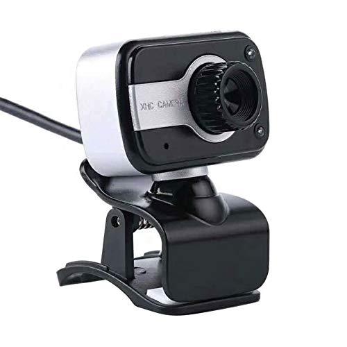 OUlike 480P HD Webcam Digitale USB Computer Camera met Digitale Microfoon, HD Night Vision Web Cam voor Skype Laptops Video Calling Recording, 5.25x1.9cm, ZILVER