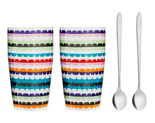 Sagaform Pop Late Tasse mit Löffel, 2 Stück