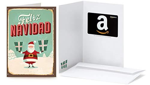 Tarjeta Regalo Amazon.es - Tarjeta de felicitación Santa Retro