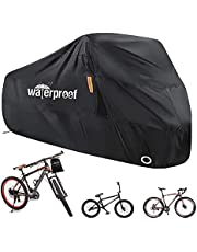 Enzeno Fietshoes voor 1 of 2 fietsen, Fietshoezen voor buiten, 210D Nylon Waterdicht Anti Stof Regen UV-bescherming voor Mountainbike/Racefiets met Lock-holes Opbergtas - 200 * 70 * 110 cm