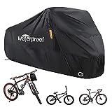 Cubierta de bicicleta para 1 or 2 bicicletas, cubiertas de bicicleta para almacenamiento exterior, 210T Nylon impermeable cubierta de bicicleta anti - 200 x 70 x 110 cm