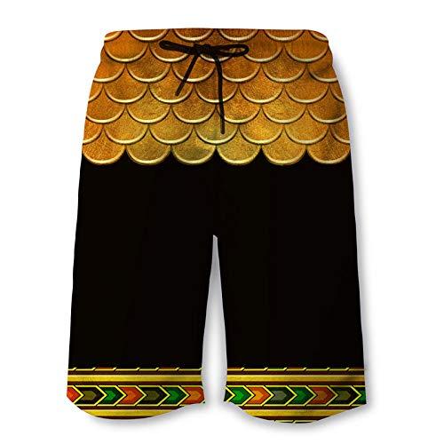 yyqx closed truck Pantalones Hippies Hombre Escamas Amarillas Pantalones Cortos Impresos en 3D con impresión Digital para Hombres
