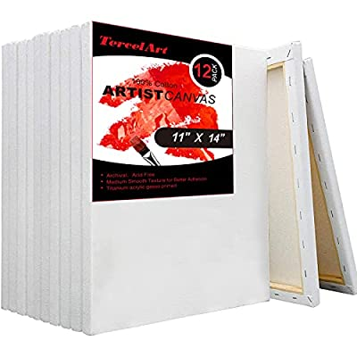 TercelArt Stretched Canvas, Pack of 12, 11x14 I...