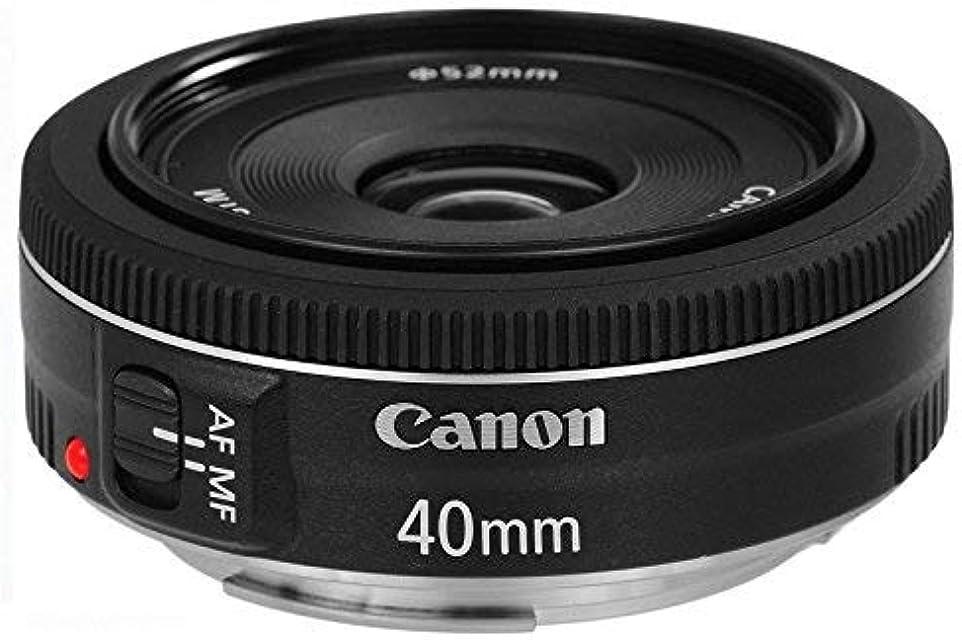Canon EF 40mm f/2.8 STM - Objetivo para Canon (Distancia Focal Fija 40mm Apertura f/2.8-22 diámetro: 68.2mm) Negro