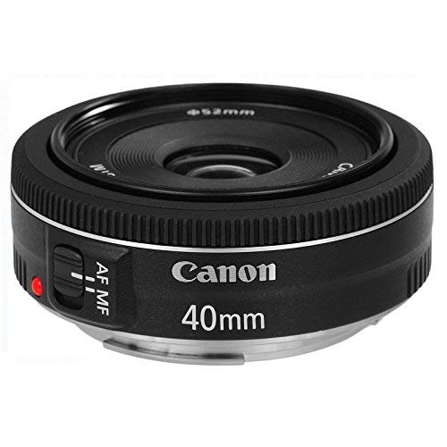 Canon Pancake Objektiv EF 40mm F2.8 STM für EOS (Festbrennweite, 52mm Filtergewinde, Autofokus) schwarz