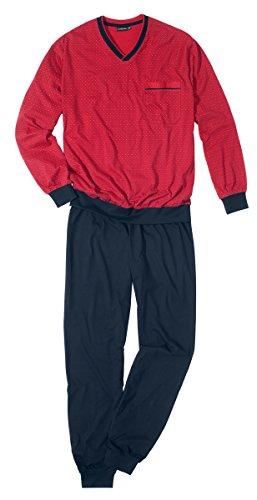 Götzburg Herren 451381-4008 Zweiteiliger Schlafanzug, Rot (Chili Pepper 2083), Large (Herstellergröße: 52)