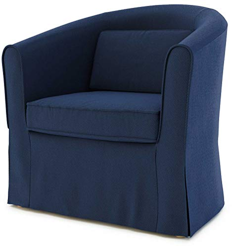 TLY Tullsta Sesselbezug für IKEA Tullsta Sessel, Ersatzbezug blau