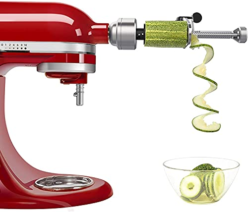 Bestand Spiralizer Attachment (7 Blades) Compatible with KitchenAid Stand Mixer, Comes with Peel, Core and Slice, Vegetable Slicer (Not KitchenAid Brand Spiralizer)