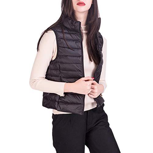 Dames vest winter mouwloos rolkraagshirt effen gekleurd donsvest Chic voorzakken met rits mantel warme trendy bovenkleding