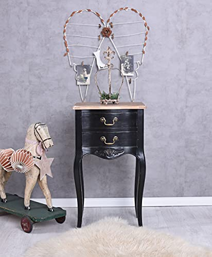 Nachttisch, Nachtschrank, Nachtschränkchen, Schrank, Wandschrank im angesagten Shabby-Chic-Stil in vespielter Optik aus Holz gefertigt - Palazzo Exclusive
