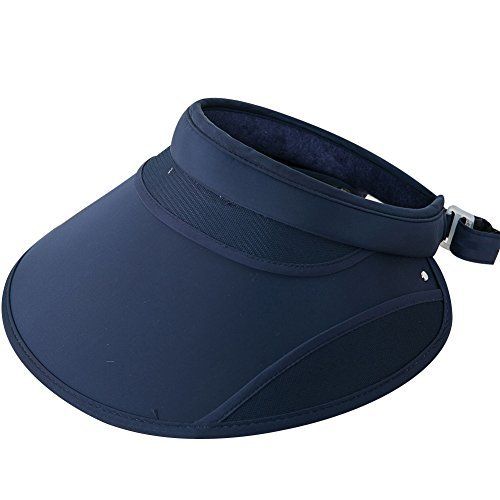 iShine Visor Hats Wide Brim Cap SPF 50+ UV Protection Summer Beach Sun Hats For Women Dark Blue