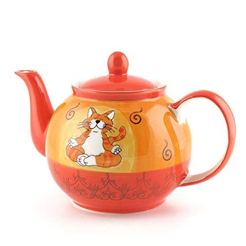 Mila Keramik-Teekanne, Oommh Katze, ca. 1,2 Liter   MI-94038   4045303940383